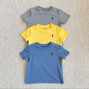 Set of 3 Ralph Lauren Polo Cotton Jersey t-shirts